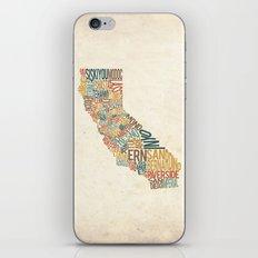 California by County iPhone & iPod Skin