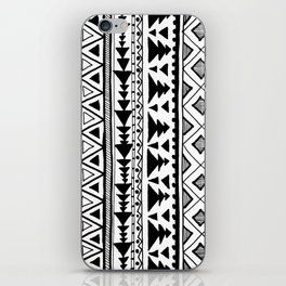 Tribal bohemian Mexican Aztec Style Pattern Doodle iPhone Skin