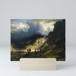 Albert Bierstadt - A Storm in the Rocky Mountains, Mt. Rosalie (1866) Mini Art Print