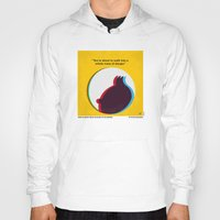 tintin Hoodies featuring No096 My TINTIN-3D minimal movie poster by Chungkong