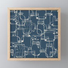 glass containers Framed Mini Art Print
