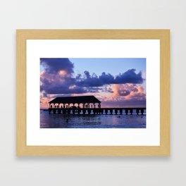 Hanalei Pier Framed Art Print