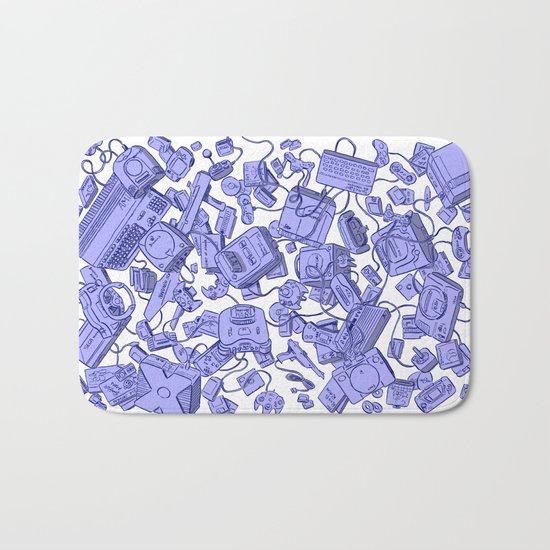 Retro Gamer - Blue Bath Mat