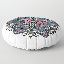 Mandala pink and blue Floor Pillow