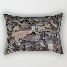 Autumn Leaves in Deep Forest Rectangular Pillow