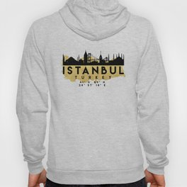 ISTANBUL TURKEY SILHOUETTE SKYLINE MAP ART Hoody