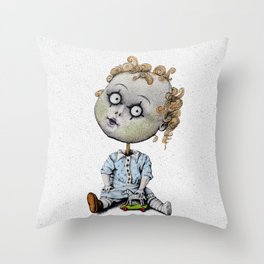 The Zombie Games (boy) Throw Pillow