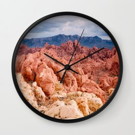 Valley of Fire Layers Wall Clock