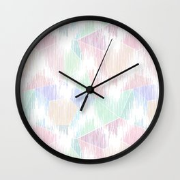 Delicate abstract pattern in pastel colors. Wall Clock