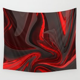 Red Flow Wall Tapestry