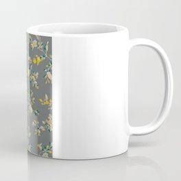 vintage floral vines - greys & mustard Coffee Mug