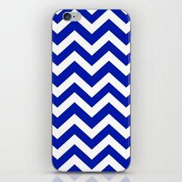 Blue (Pantone) - blue color - Zigzag Chevron Pattern iPhone Skin