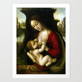 Bernardino dei Conti Madonna and Child Art Print