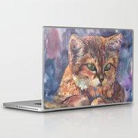 meow Laptop & iPad Skins featuring Meow by Emma Reznikova