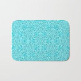 Hexagone Turquoise Bath Mat