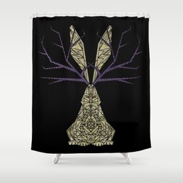Geometric - Jackalope Shower Curtain
