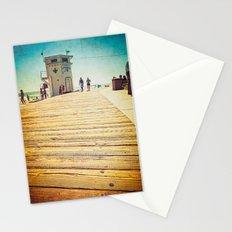 LAGUNA BEACH - BOARDWALK & LIFEGUARD TOWER (everyday 03.01.17) Stationery Cards