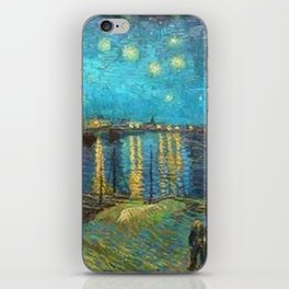 Starry Night Over the Rhone River by Vincent van Gogh iPhone Skin