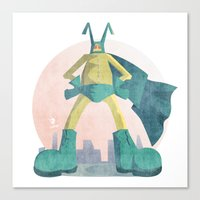 super hero Canvas Prints featuring Super Hero by J.M. Benga