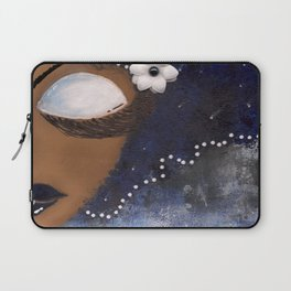 Blue and White Sassy Girl  Laptop Sleeve
