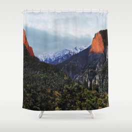 Sunrise trip to the mountains Shower Curtain