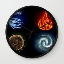 Avatar Elements Wall Clock