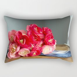 Flowers on the Table Rectangular Pillow