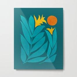 Wild Garden / Whimsical Botanical Series Metal Print