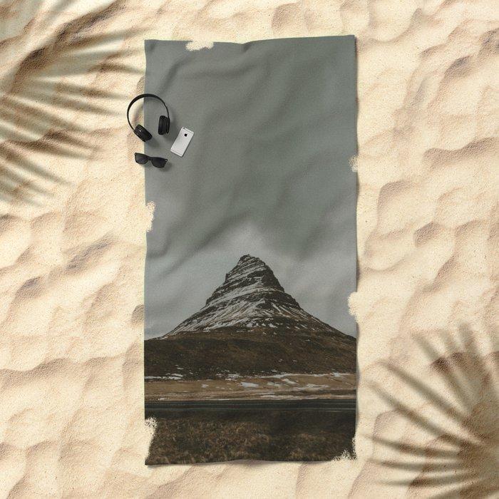 Iceland Kirkjufell Mountain Beach Towel