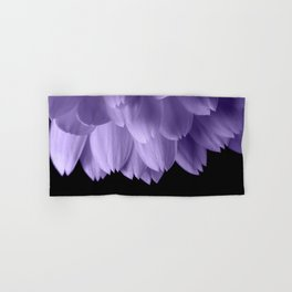 Ultra violet purple flower petals black Hand & Bath Towel