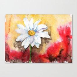 daisy with edge Canvas Print