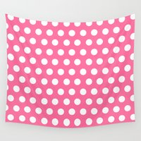 minnie Wall Tapestries featuring Minnie Mouse Dots | Pink by DisPrints
