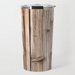 Wood pattern Travel Mug