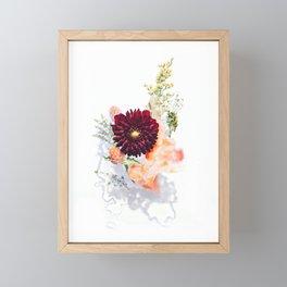 Vintage flowers watercolor painting #18 Framed Mini Art Print