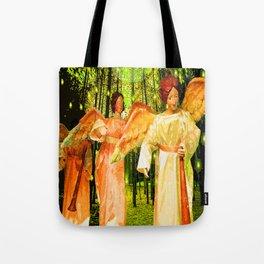 ANGELS BRING GLAD TIDINGS OF JOY Tote Bag