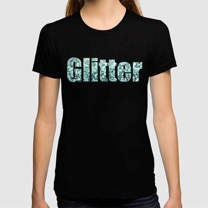 Aqua Glitter T-shirt