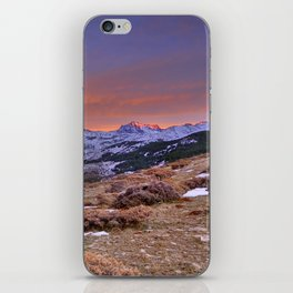 """""""Red sunset over the high mountains"""" iPhone Skin"""