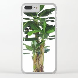 TROPICAL GREEN1 Clear iPhone Case