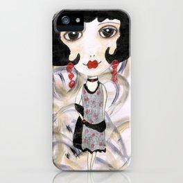 Margot, the flapper girl iPhone Case