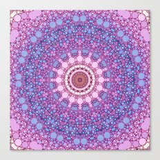 pink and blue kaleidoscope Canvas Print