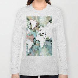 Design 96 world map Long Sleeve T-shirt