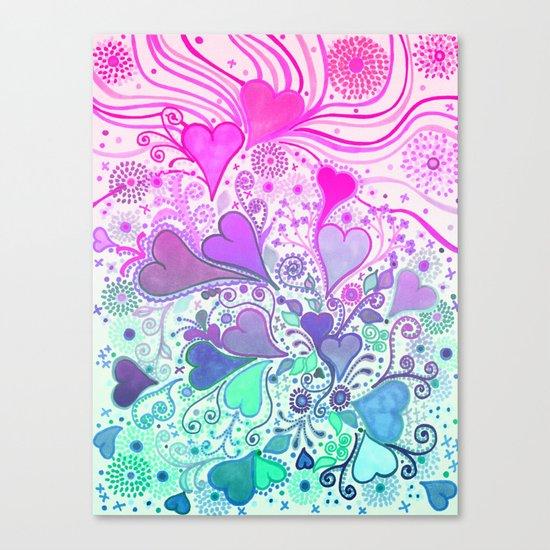 Doodle LOVE... Canvas Print