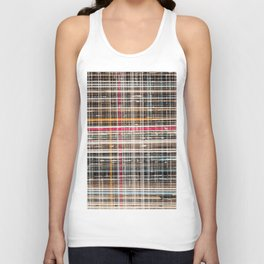 structure with red lines Unisex Tank Top