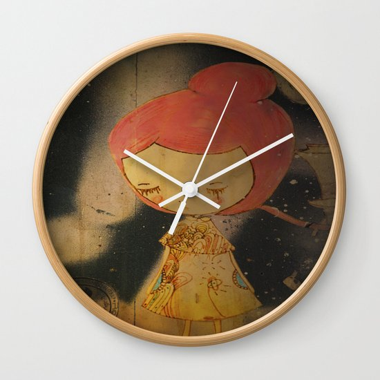 Beautiful small things I found in Barcelona streets Wall Clock
