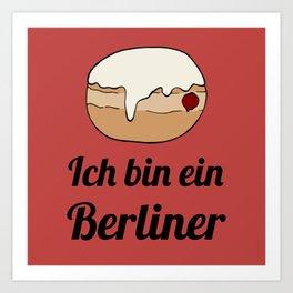 Ich bin ein Berliner Art Print