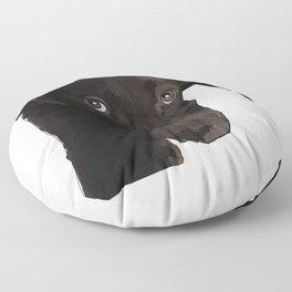 Chocolate Labrador Puppy Floor Pillow