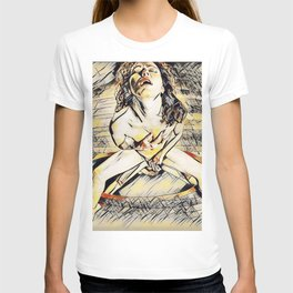 6170s-KD Mirror Reflections Erotic Art in the style of Wassily Kandinsky T-shirt