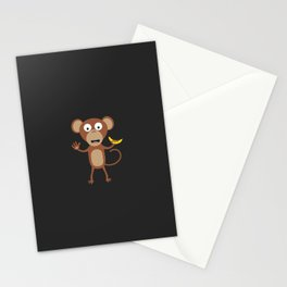 monkey with banana Stationery Cards