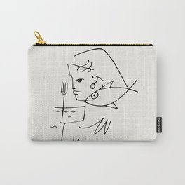 Poster-Jean Cocteau-Linear drawings-The woman-fish. Carry-All Pouch