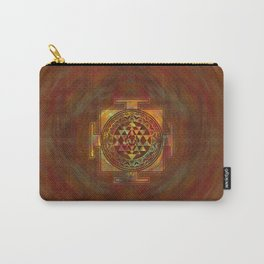 Colorful Sri Yantra  / Sri Chakra Carry-All Pouch